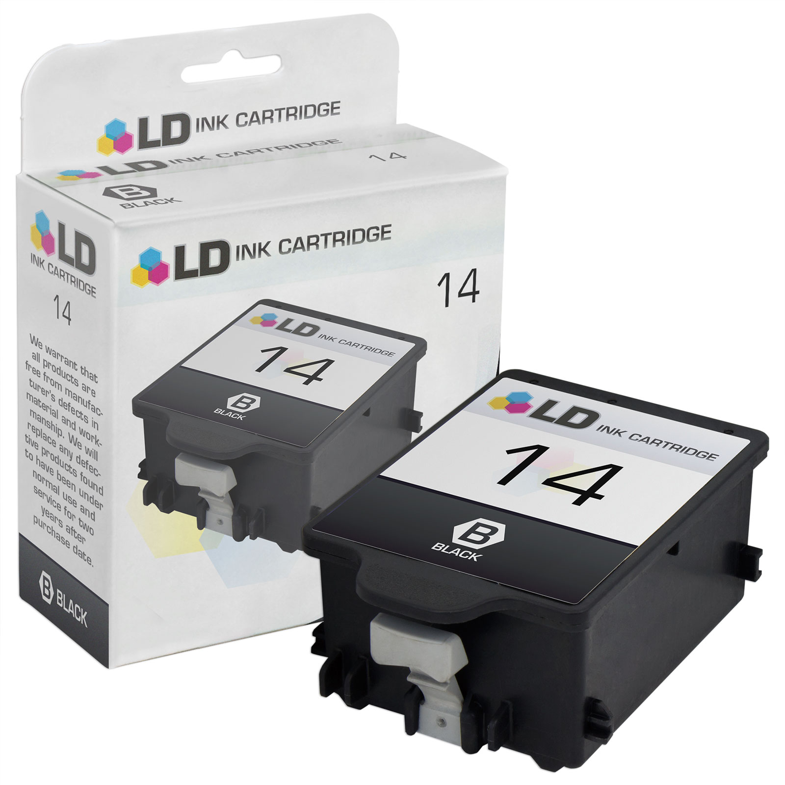 LD Remanufactured Replacement Ink Cartridge for Hewlett Packard C5011DN (HP 14) Black