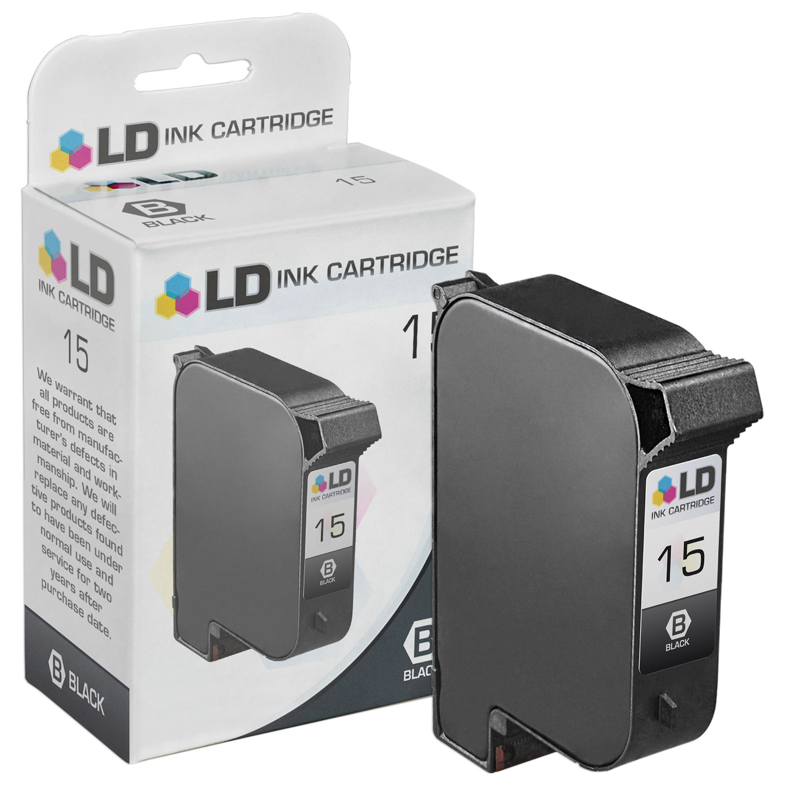 LD Remanufactured Replacement Ink Cartridge for Hewlett Packard C6615DN (HP 15) Black
