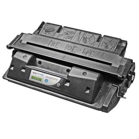 Remanufactured Toner Cartridge for HP 27X High Yield Black, 10,000* Page Yield (C4127X)