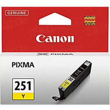 Canon CLI-251Y Yellow OEM Standard-Yield Ink Cartridge, 6516B001