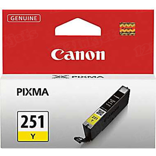 Canon CLI-251Y Yellow OEM Ink Cartridge