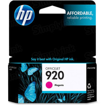 Original HP 920 Magenta Ink Cartridge in Retail Packaging (CH635AN)