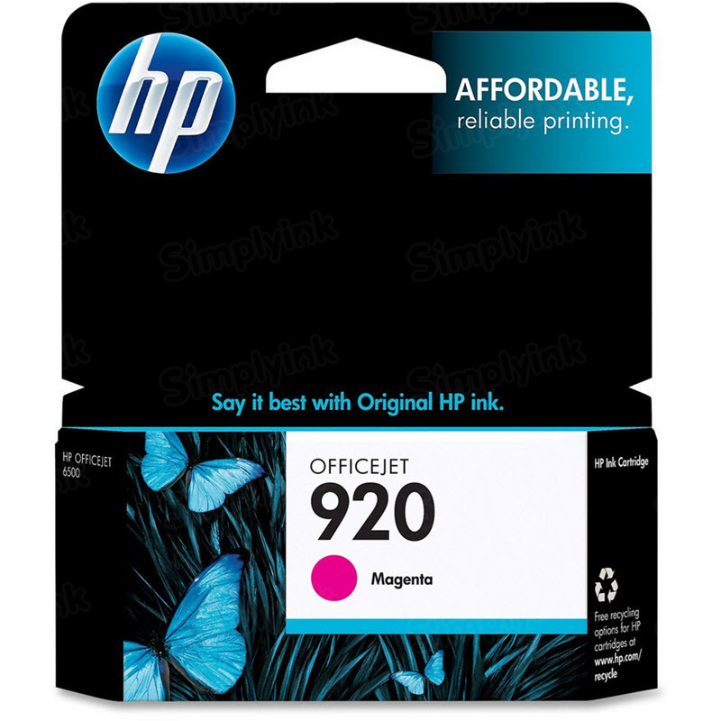 HP 920 Magenta Original Ink Cartridge CH635AN