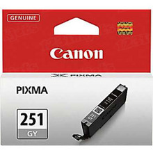 Canon CLI-251GY Gray OEM Standard-Yield Ink Cartridge, 6517B001
