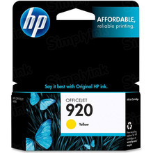 Original HP 920 Yellow Ink Cartridge in Retail Packaging (CH636AN)