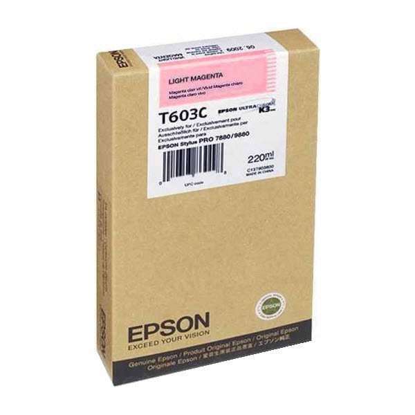 Epson T603C00 Light Magenta OEM Ink Cartridge