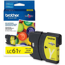 Brother LC61Y Yellow OEM Ink Cartridge