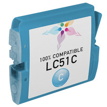 Compatible Brother LC51C Cyan Ink Cartridges