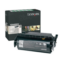 Lexmark OEM High Yield Black Laser Toner Cartridge, 12A6869 (T620/T622/X620 Series) (30K Page Yield)