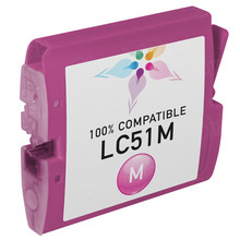 Compatible Brother LC51M Magenta Ink Cartridges