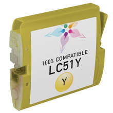 Compatible Brother LC51Y Yellow Ink Cartridges
