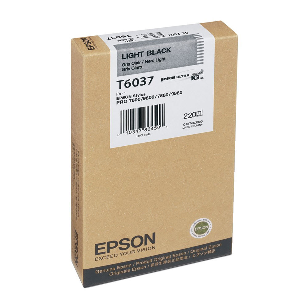Epson T603700 Light Black OEM Ink Cartridge