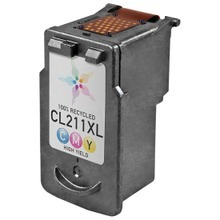 Remanufactured Canon CL-211XL (2975B001) High Yield Color Ink Cartridges