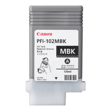 Canon PFI-102MBK Black OEM Ink Cartridge, 0894B001AA