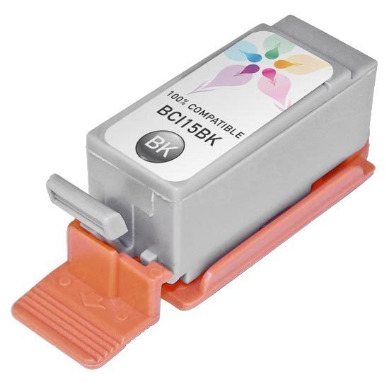 Canon Compatible BCI15Bk Black Ink
