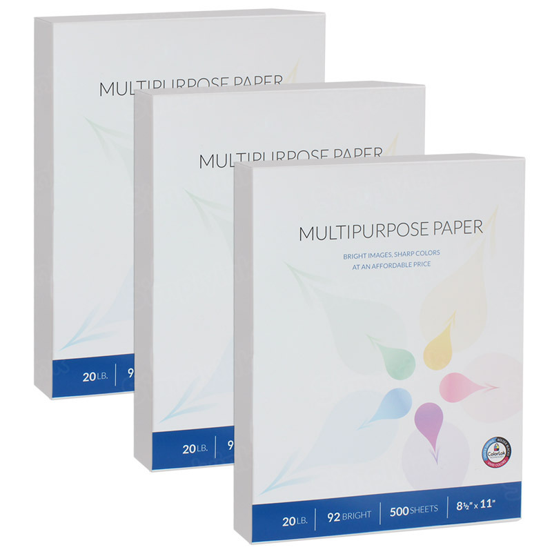 Multipurpose Paper, 1500 Sheets, 8-1/2 x 11