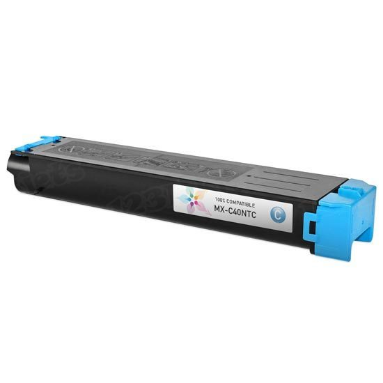 Compatible Sharp MX-C40NTC Cyan Toner