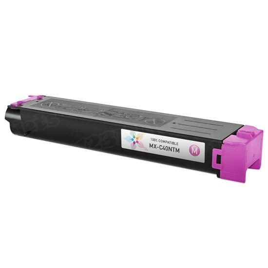 Compatible Sharp MX-C40NTM Magenta Toner