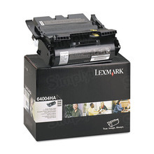 Lexmark OEM High Yield Black Return Program Laser Toner Cartridge, 64004HA (21K Page Yield)