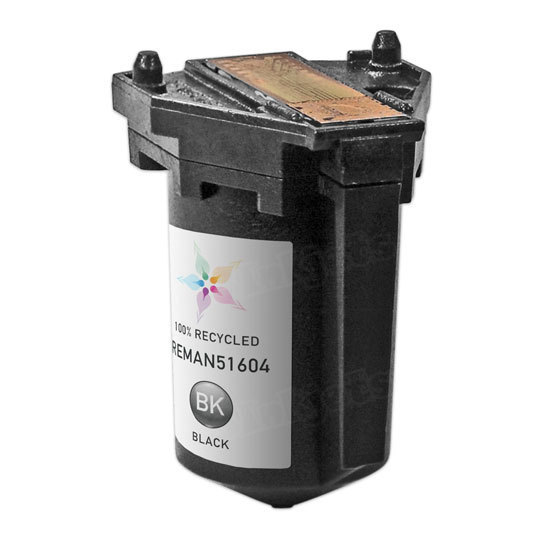 Remanufactured Replacement Black Ink for HP 51604A