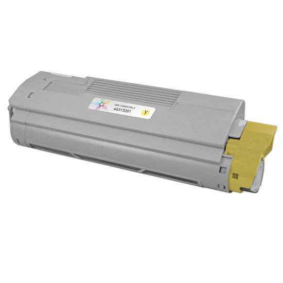 Compatible 44315301 Yellow Toner for Okidata