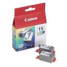 Canon BCI-15C Color OEM Ink Cartridge 2-Pack, 8191A003