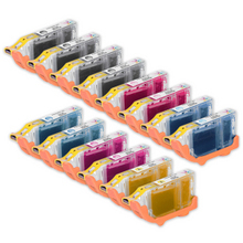 Compatible Canon Bulk Set of 14 BCI6 Ink Cartridges 4 Black (BCI6bk) and 2 each of: Cyan (BCI6C), Magenta (BCI6m), Yellow (BCI6y), Photo Cyan (BCI6PC) and Photo Magenta (BCI6PM))