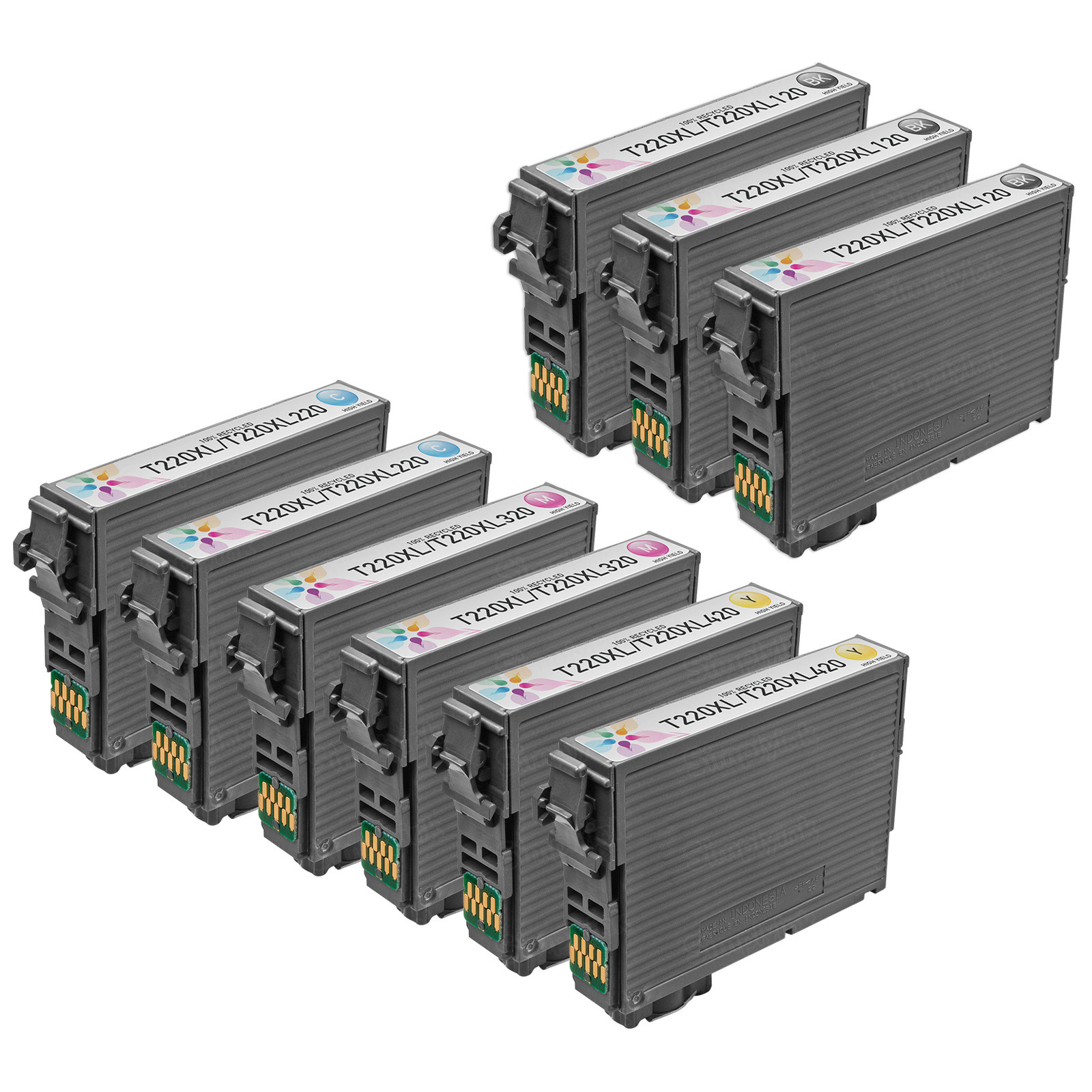 Remanufactured 220XL 9 Pack for Epson