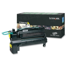 Lexmark OEM Yellow Return Program Laser Toner Cartridge, C792A1YG (C792/X792 Series) (6K Page Yield)