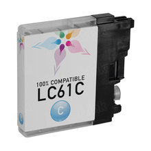 Compatible Brother LC61C Cyan Ink Cartridges