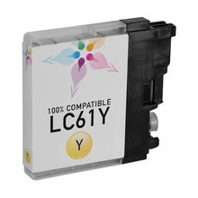 Compatible Brother LC61Y Yellow Ink Cartridges