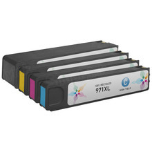 Remanufactured 4 Pack for HP 970XL / 971XL: 1 Black, Cyan, Magenta, Yellow