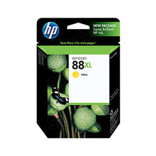Original HP 88XL Yellow Ink Cartridge in Retail Packaging (C9388AN) High-Yield