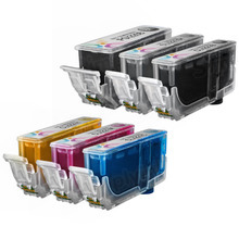 Canon PGI-220 & CLI-221: 1 Pigment Black PGI-220 & 1 Each of CLI-221 Black, Cyan, Magenta, Yellow, Gray (Compatible Set of 6 Ink Cartridges)