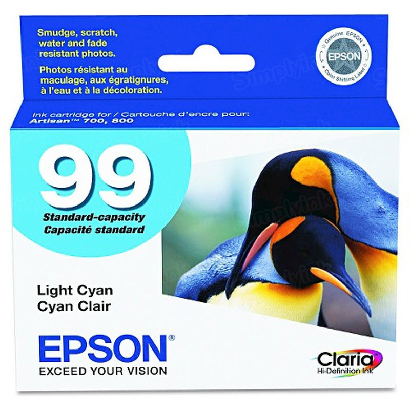 Epson 99 Light Cyan OEM Ink Cartridge (T099520)
