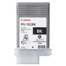 Canon PFI-102BK Black OEM Ink Cartridge, 0895B001AA