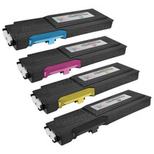 Compatible WorkCentre 6655 Xerox High-Capacity Set of 4 Toner Cartridges: Black, Cyan, Magenta, & Yellow