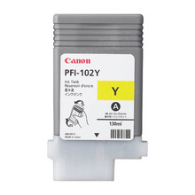 Canon PFI-102Y Yellow OEM Ink Cartridge, 0898B001AA