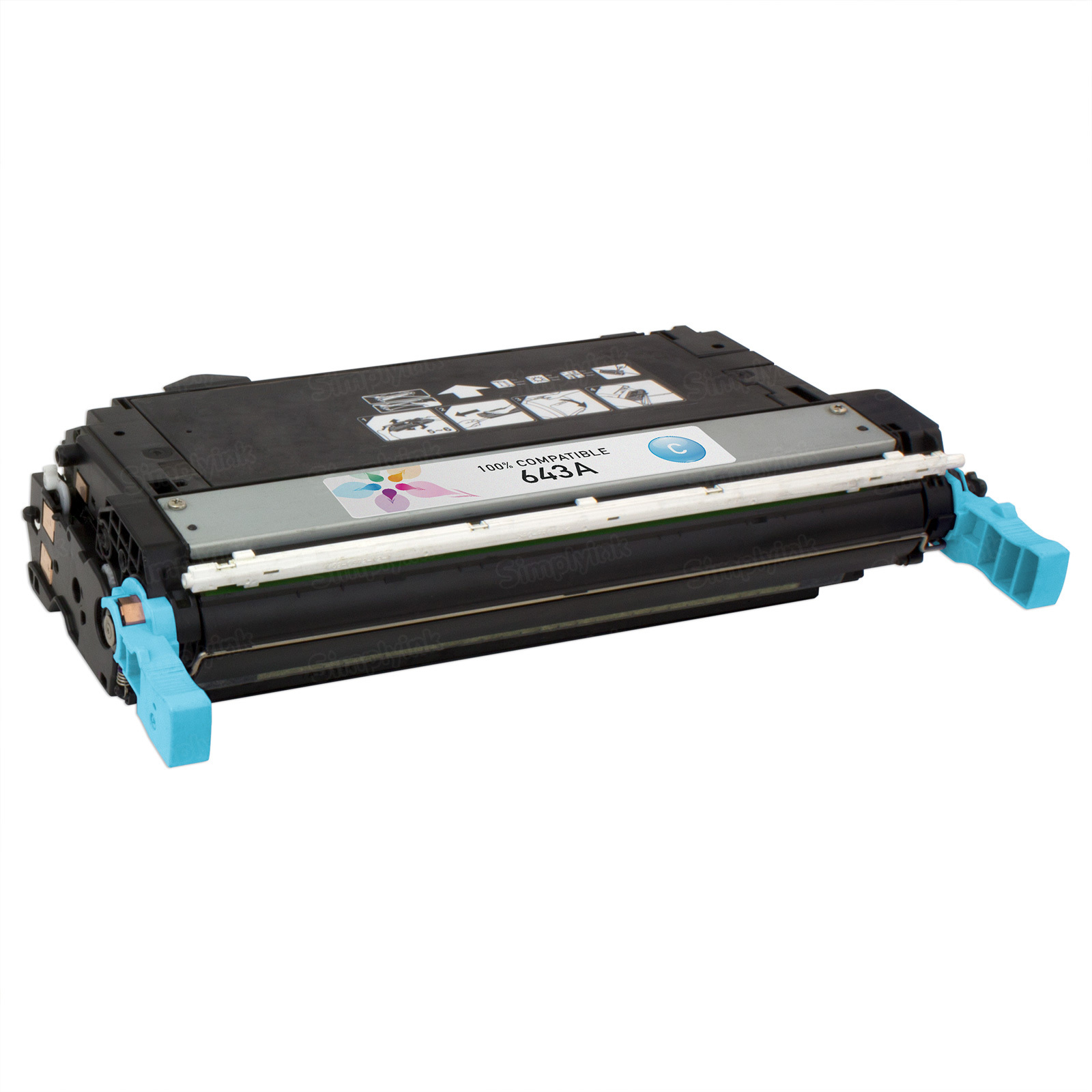 Remanufactured Replacement Cyan Laser Toner for HP 643A