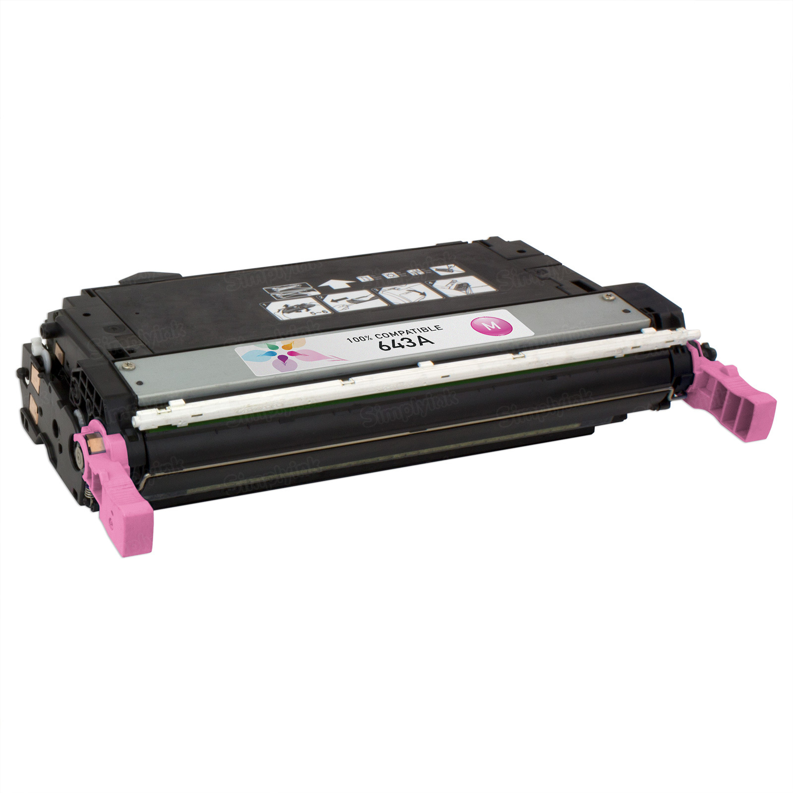 Remanufactured Replacement Magenta Laser Toner for HP 643A