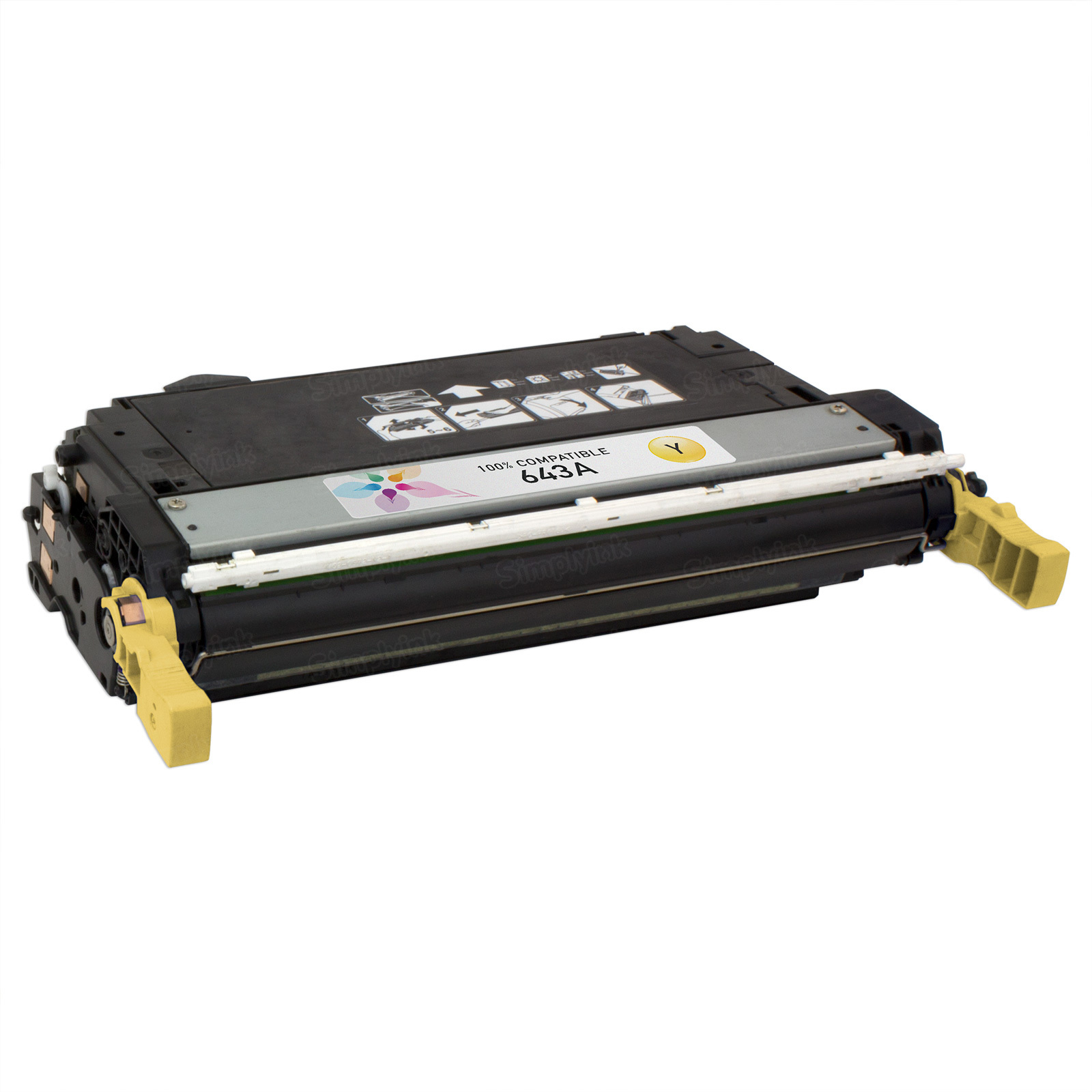 Remanufactured Replacement Yellow Laser Toner for HP 643A