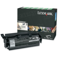 Lexmark OEM High Yield Black Return Program Laser Toner Cartridge, T650H04A (25K Page Yield)