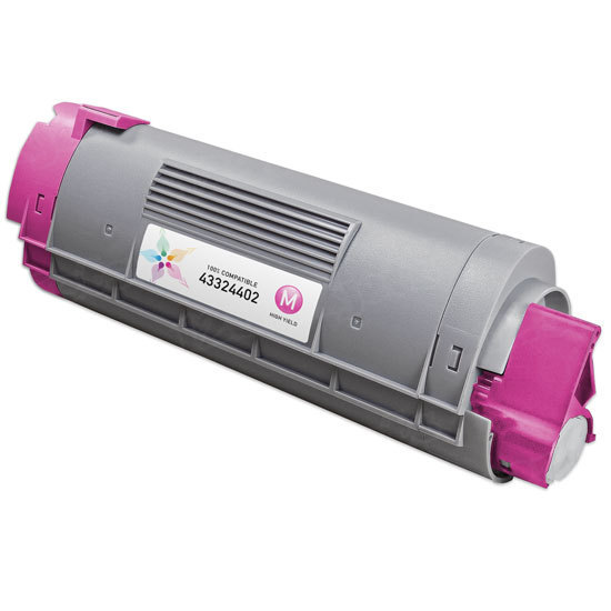 Okidata Compatible 43324402 Magenta Toner Cartridge for C5500, C5800