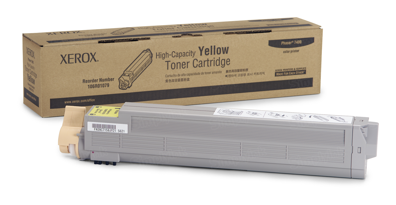 Xerox 106R01079 (106R1079) HY Yellow OEM Toner Cartridge