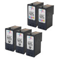 Remanufactured HY Bulk Set of 5 Ink Cartridges: 3 Black Lexmark 44XL and 2 Color 43XL