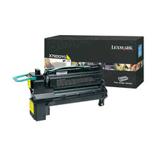 Lexmark OEM Extra High Yield Yellow Laser Toner Cartridge, X792X2YG (X792 Series) (20K Page Yield)