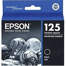 Original Epson 125 Black Inkjet Cartridge (T125120), Standard-Capacity