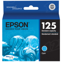 Epson 125 Cyan OEM Ink Cartridge (T125220)