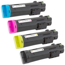Compatible Set of 4 Replacement Toners for use in the Dell Laser H825 and S2825, (Black, Cyan, Magenta, Yellow)