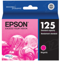 Epson 125 Magenta OEM Ink Cartridge (T125320)